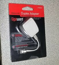 GIGAWARE DUPLEX ADAPTER BUILT IN DSL FILTER SINGLE LINE DUAL 2790025 3TH1