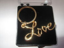 SEX AND THE CITY LOVE  KEY RING SATC GOLD  PLATE -FREE PRESENTATION BOX K01B