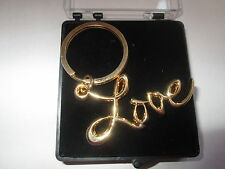 SEX AND THE CITY LOVE  KEYRING SATC GOLD  PLATE -FREE PRESENTATION BOX K01B