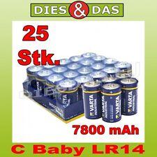 25 Pcs Varta C Baby Industrial 1, 5V LR14 Battery Bulk 25 x