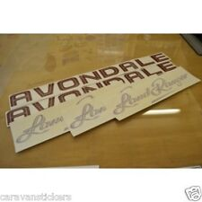 AVONDALE Land Ranger Caravan Stickers Decals Graphics - (STYLE 1) - SET OF