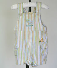 Classic Pooh Baby Boy Infant's size 6 months overalls light blue embroidered
