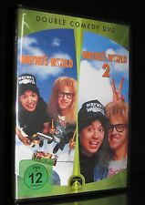DVD WAYNE'S WORLD - TEIL 1 + 2 - DOUBLE COMEDY - MIKE MYERS + ALICE COOPER * NEU