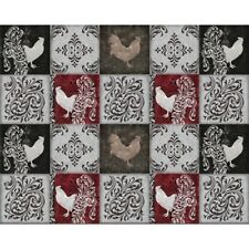 Quilting Treasures Bonjour by Color Bakery 23905 K Rooster Patch Cotton Fab BTY