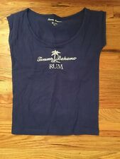 "New ""TOMMY BAHAMA"" RUM Women's Sz M/L Sleevless Tee Blue T-shirt"