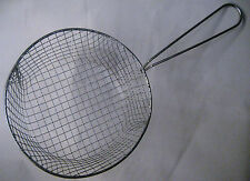 8'' CHIP FRYING BASKET FOR DEEP FAT FRYING&STRAINING PAKORA FISH, SAMSOSA CHIPS