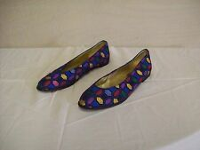 Womens shoes size 9m Mila leather sole made in Spain multi-colored flats