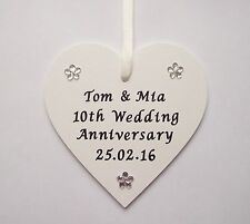 Personalised 1st 5th 10th 15th 20th 30th 60th 70th wedding anniversary gift