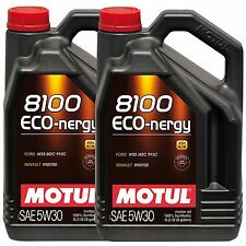 Motul 8100 Eco-Nergy 5W30 Fully Synthetic Engine Oil - 2 x 5 Litres (10L)