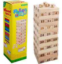 Jenga Game Wooden Tumbling Stacking Tower Kids Family Party Table Traditional