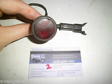 LAND ROVER RANGE ROVER CLASSIC ROUND RED DOOR PUDDLE LIGHT BLACK PLUG (2)