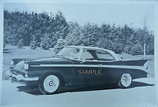 """12 By 18""""  Black & White Picture 1958 Packard 2 Door Hardtop With Rear Antena"""