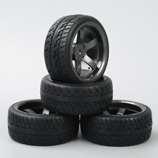 4Pcs RC Tyre Tires&Wheel Rim D5M+PP0150 For HPI HSP 1:10 On-Road Car New
