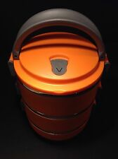 Stainless Steel Lunch Box For Kids or Adults Stackable Bento Lunch Box Orange