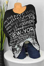 GR: 42,44,46  NEU OVERSIZE SHIRT TUNIKA T-SHIRT SCHRIFT NEW YORK PRINT MUSTER