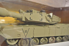 U.S.ARMY M1A2 Tank DESERT TAN Infrared RC Lights Track Turret 4749 ***LARGE ~16""
