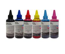 Ricarica Cartucce 6 Flaconi 100ml inchiostro Colori per Brother Cano Epson HP