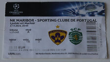 Ticket for collectors CL NK Maribor - Sporting Lisboa 2014 Slovenia Portugal