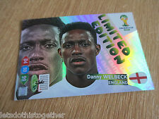 *GIFT* Panini Adrenalyn XL World Cup 2014 Danny Welbeck Portrait Limited Edition