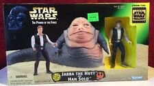 Star Wars Power of the Force Jabba the Hutt and Han Solo MIB Original