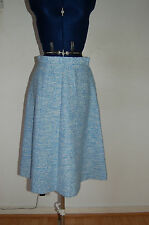 Vintage/retro polyester acrylic and nylon old blue and white skirt
