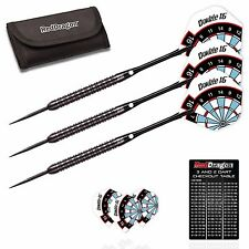 DOUBLE 16 JET TUNGSTEN DARTS SET Red Dragon™ Dart Stems, Flights, Case,23g