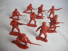 1/32 Timpo Civil War Union Toy Soldiers in special Red Brown color 9 in 4 poses