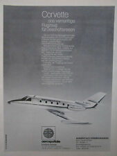 5/1976 PUB AEROSPATIALE AVION CORVETTE AIRCRAFT FLUGZEUG ORIGINAL GERMAN AD