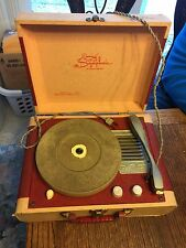Vintage Symphonic The Symbol of Superiority Suitcase Record Player 33, 45, 78