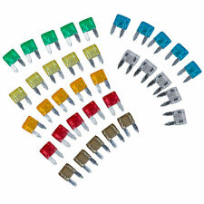 New 35 Piece MIXED Mini Blade Fuse AUTO Car 5 7.5 10 15 20 25 30 AMP