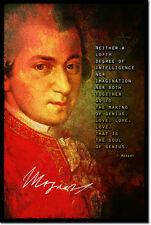 WOLFGANG AMADEUS MOZART ART PHOTO POSTER GIFT CLASSICAL QUOTE