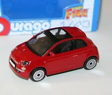 Burago - FIAT 500 (Red) 2008 - 'Street Fire' Model Scale 1:43)