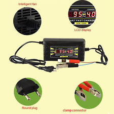 Sale Smart Car Motorcycle Battery Charger LCD Display 12V 6A EU plug er