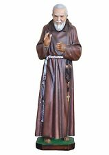 Padre Pio resin statue cm. 80 with glass eyes