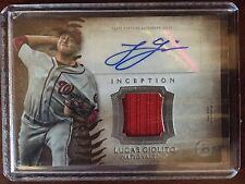 2015 BOWMAN INCEPTION LUCAS GIOLITO RELIC AUTO ROOKIE! NAT'S TOP PROSPECT!