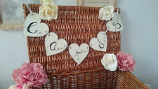 """CARDS"" heart Wedding wooden bunting ~ Post box sign Birthday, Engagement"