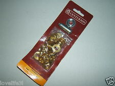 "CENTURION PL36P PURE BRASS 11mm 7/16"" 25 EYELETS RINGS KIT STEEL PUNCH DIE TOOL"