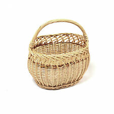 Wicker Hand Picnic Storage Basket Shopping Fruit Hamper With Handle