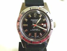 VERY RARE VINT 60´S CAUNYMATIC WATCH SWISS, DIVER 21 ATM, AUTOMATIC-25 JEW-DATE