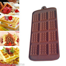 Mini 12 Cell 12 Section Chocolate Bar Candy Professional Silicone Mould DIY Mold