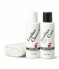 Apple Brand Leather Care Kit 4 oz Cleaner & 4 oz Conditioner + Cleaning Cloth