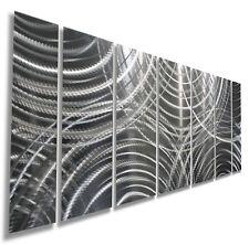 Metal Abstract Modern Wall Art  Silver Sculpture Home Decor Original Jon Allen