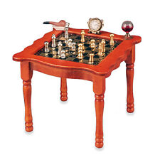 Reutter Porzellan Schachtisch / Chess Table with Metal Pieces Puppenstube 1:12