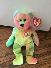 Rare Ty Beanie Baby-PEACE BEAR- Original Collectible with Tag ERRORS.