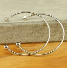 Marc Jacobs silver large hoop ball earrings 2.5""