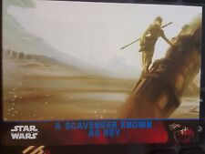 2015 Topps Star Wars The Force Awakens #69 A Scavenger Known As Rey BLUE