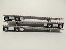 3  DCP 1/64 SCALE  ROAD  BRUTE  FLATBED  TRAILERS  SILVER DECK WITH SILVER FRAME