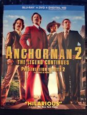 Anchorman 2: The Legend Continues (Blu-ray Disc, 2014, 3-Disc Set, Canadian)