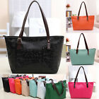 Women PU Leather Tote Shoulder Bags Hobo Handbags Satchel Messenger Bag Purse