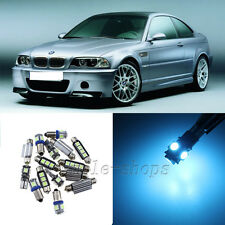 No Error Ice Blue 16pcs Interior LED Light Kit for 1999-2006 BMW E46 M3 325i